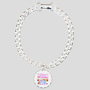 PERSONALIZED 18TH Charm Bracelet, One Charm