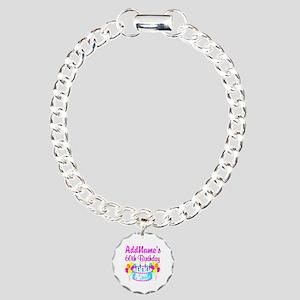 AWESOME 60TH Charm Bracelet, One Charm
