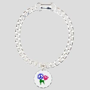 P,L,BULLMASTIFF Charm Bracelet, One Charm