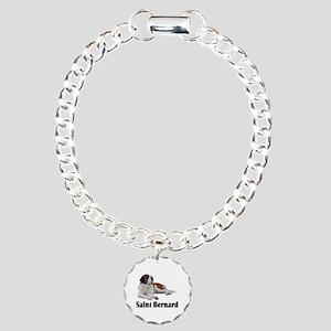 Saint Bernard Charm Bracelet, One Charm