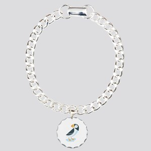 Puffin Charm Bracelet, One Charm