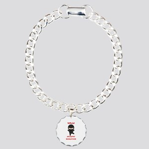 Ninja Account Executive Charm Bracelet, One Charm
