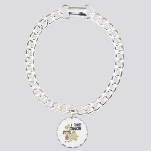 Girl I Like Dinos Charm Bracelet, One Charm
