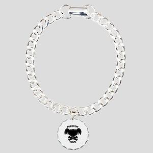 Forensic Chick Charm Bracelet, One Charm