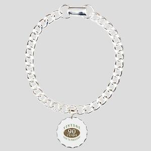 Vintage 90th Birthday Charm Bracelet, One Charm