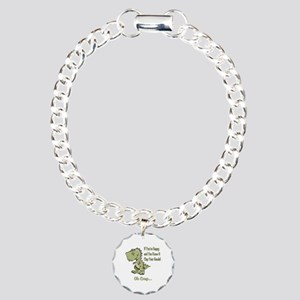 Happy TRex Charm Bracelet, One Charm