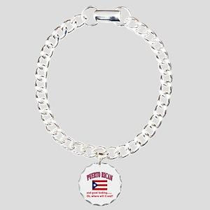 Puerto rican pride Charm Bracelet, One Charm