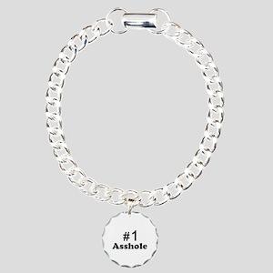 NR 1 ASSHOLE Charm Bracelet, One Charm
