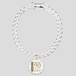 Fancy Vintage 90th Birthday Charm Bracelet, One Ch