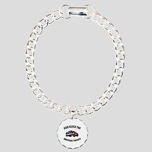 American Trucker Charm Bracelet, One Charm