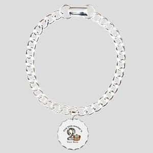 2nd Birthday Monkey Personalized Charm Bracelet, O