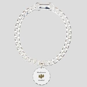 Mushroom Junkie Charm Bracelet, One Charm