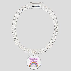 PRECIOUS 90TH Charm Bracelet, One Charm