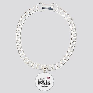 World's Best Veterinaria Charm Bracelet, One Charm