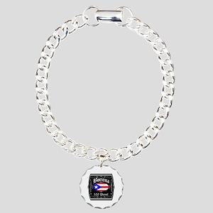 Boricua 100 Proof Charm Bracelet, One Charm