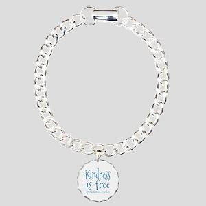 Sprinkle Kindness Blue Charm Bracelet, One Charm