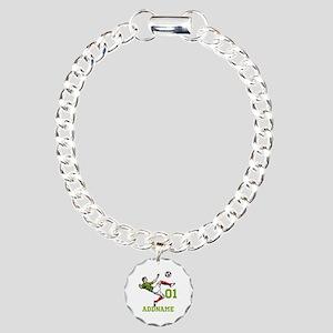 Customizable Soccer Charm Bracelet, One Charm