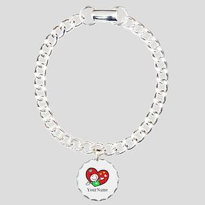 Happy Heart (p) Bracelet Charm Bracelet, One Charm