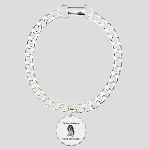 Personalized Beagle Cust Charm Bracelet, One Charm