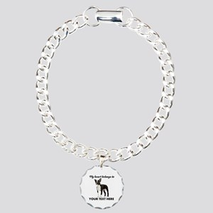 Personalized Boston Terr Charm Bracelet, One Charm