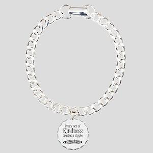 KINDNESS RIPPLE Charm Bracelet, One Charm