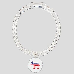 Democratic Donkey on Hee Charm Bracelet, One Charm