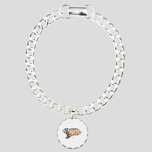 Badger Animal Charm Bracelet, One Charm