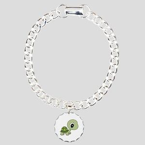Baby Turtle Charm Bracelet, One Charm