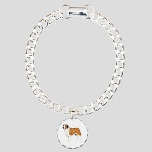 St. Bernard Dog Charm Bracelet, One Charm