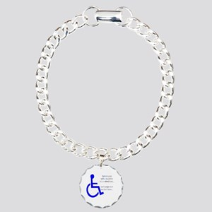 Disability Message Charm Bracelet, One Charm