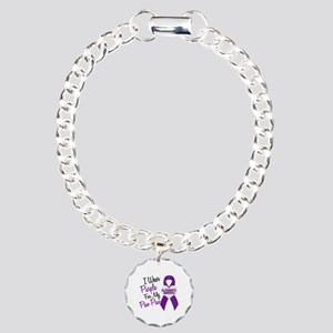 I Wear Purple 18 Alzheimers Charm Bracelet, One Ch