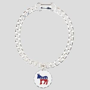 Democrat Donkey Charm Bracelet, One Charm