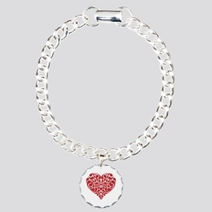 Real Heart Charm Bracelet, One Charm