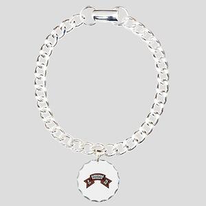 P Co 75th Infantry (Ranger) Scroll Charm Bracelet,