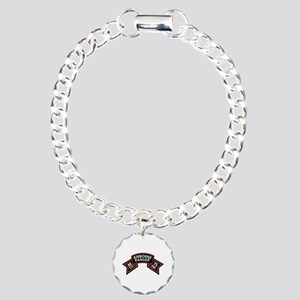 M Co 75th Infantry (Ranger) Scroll Charm Bracelet,