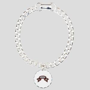 F Co 75th Infantry (Ranger) Scroll Charm Bracelet,