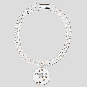 Rescue Dog Dad Charm Bracelet, One Charm