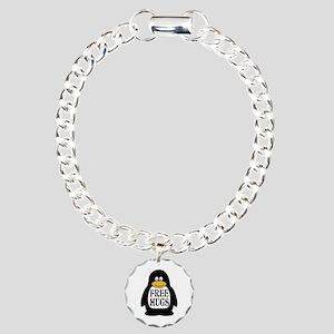 Free Hugs Penguin Charm Bracelet, One Charm