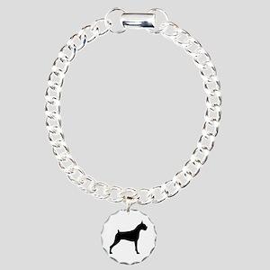 Boxer Dog Charm Bracelet, One Charm