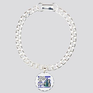 Holiday Penguins Arthritis Charm Bracelet, One Cha