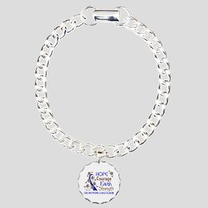 Hope Courage Faith ALS Charm Bracelet, One Charm