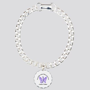 ALS Butterfly 6.1 Charm Bracelet, One Charm