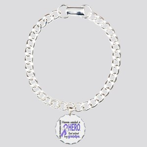 Esophageal Cancer Heaven Charm Bracelet, One Charm