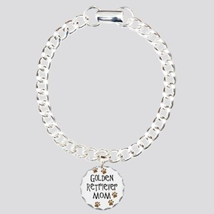 Golden Retriever Mom Charm Bracelet, One Charm