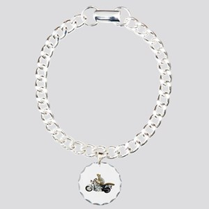 Motorcycle Squirrel Charm Bracelet, One Charm