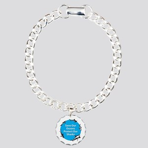 Save Our Oceans. Protect Our Charm Bracelet, One C