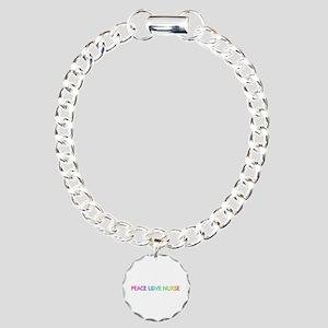 Peace Love Nurse Charm Bracelet
