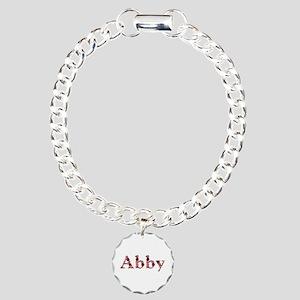 Abby Pink Flowers Charm Bracelet