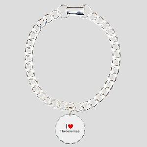 Threesomes Charm Bracelet, One Charm
