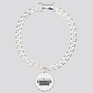 Live Love Synchronized Swimming Charm Bracelet, On
